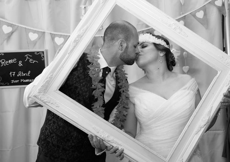 Photocall de boda Fer y Reme
